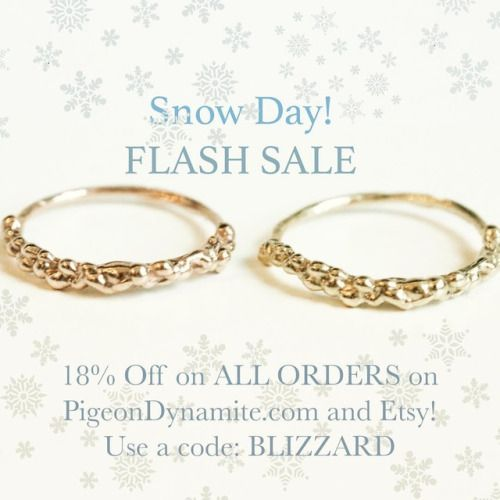 "Starting NOW…with 18"" of snow prediction, what not to love about staying home and shopping some beauties and get discount?! Only until 3/14 midnight..."