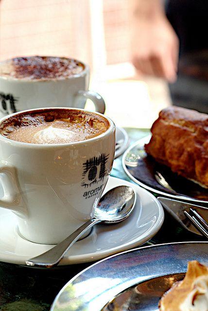 Coffee at Bourke Street Bakery, Australia.