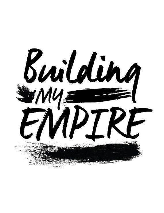 PRINTABLE Instant Download Building My Empire por CityComfortsDC