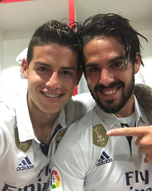James Rodriguez and Isco