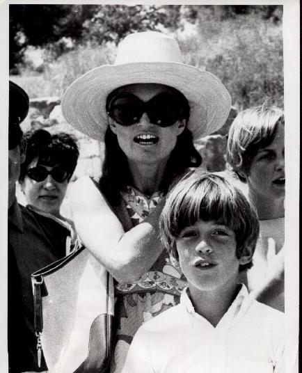 Jackie and JFK, Jr.