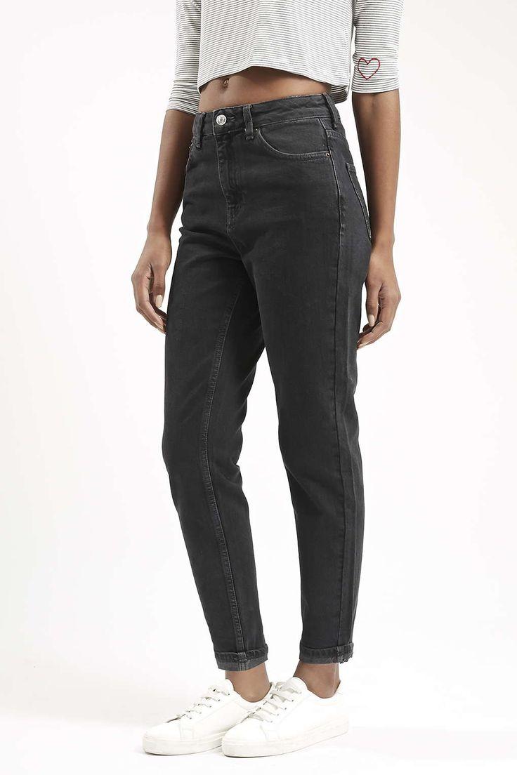 Photo 2 of MOTO Dark Washed Black Mom Jeans