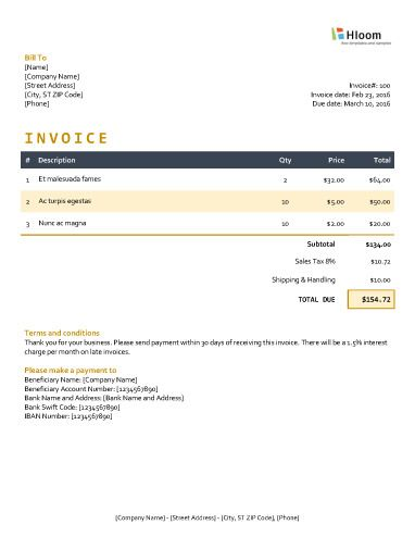 152 best Invoice Templates images on Pinterest Invoice template - how to do a invoice