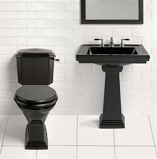 Goth bathroom!  Yep - black toilet comin' up.