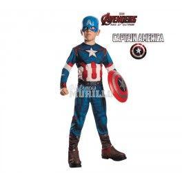 Disfraz de Capitan America - Disfraza a tu niño como un autentico vengador. Con este #disfraz de #capitanamerica tu niño será el heroe nacional. #yomedisfrazo #disfracesmurillo #vengadores #soldadodeinvierno