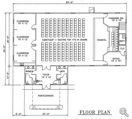 Church Plan #127 | LTH Steel Structures · Church BuildingBuilding IdeasSteel  Structure