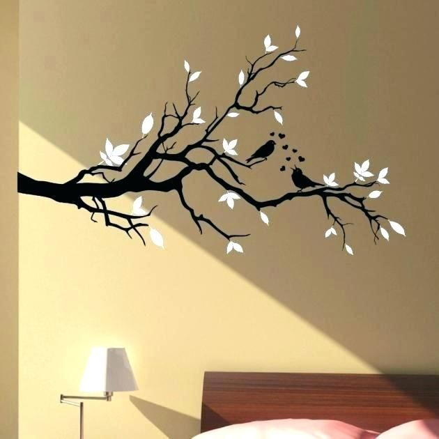 Birds Flowers Tree Branch Removable Vinyl Decal Sticker DIY Art Mural Room Decor