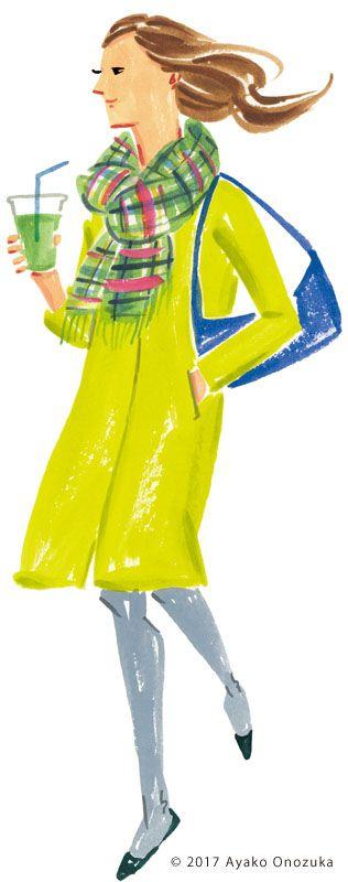 ayako onozuka #illustration #Fashion #Watercolor #イラストレーション #女性 #Woman #小野塚綾子