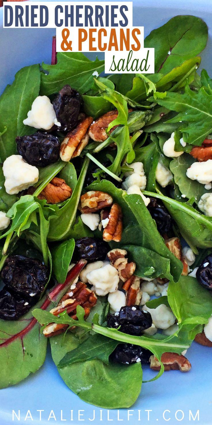 VIDEO: Dried cherries & pecan salad! 2 TSP pecans 1 TSP blue cheese ...