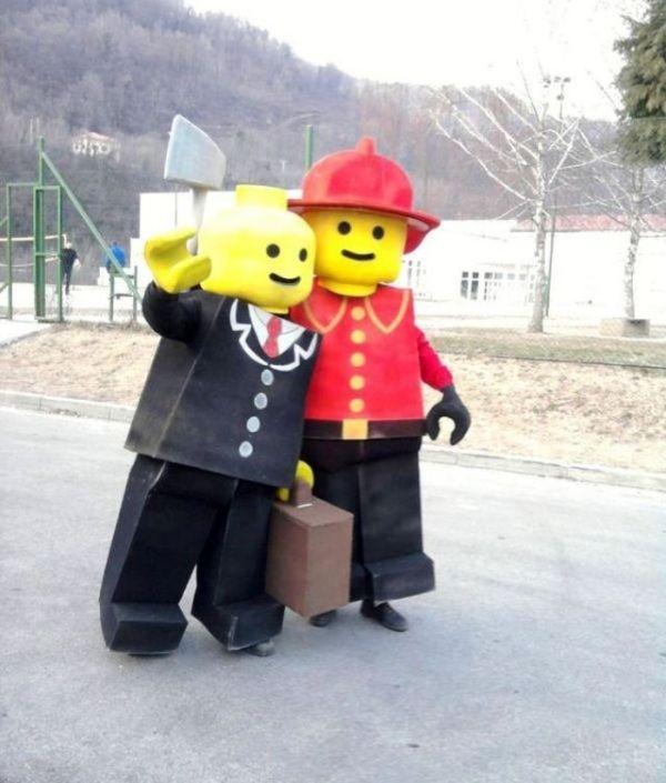 Lego Spielzeuge-Party Karneval-kostüm ideen-familie freunde-verkleidung