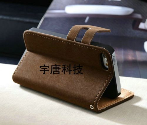 New-Flip-Wallet-Case-Cover-Leather-For-Apple-iPhone-4-5-5S-Free-Screen-Protector