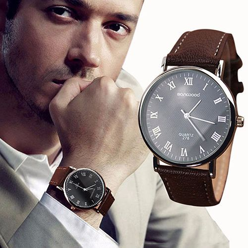 Business Mens Roman Numerals Faux Leather Band Quartz Analog Luxury Dress Watches New Design!  http://mobwizard.com/product/business-mens-roman32530209088/ #watch #watches #fashion #man #woman #classic #luxury #newdesign #leather
