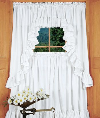Wide+Ruffles+Perma Press+Swag House · Window ToppersRuffle CurtainsCountry  ...