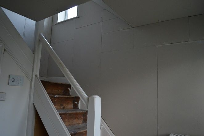 DIY plasterboard in the Hallway and staircase