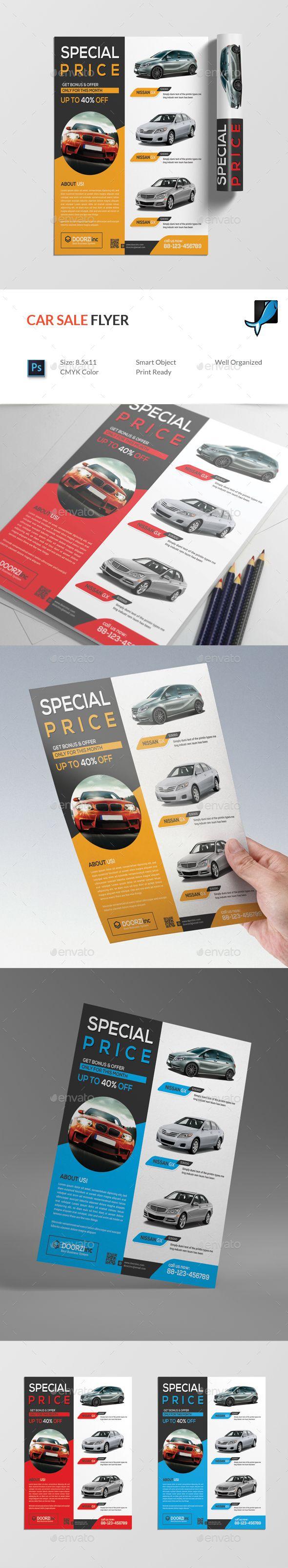 #Car Sale #Flyer - Commerce Flyers Download here: https://graphicriver.net/item/car-sale-flyer/19529147?ref=alena994