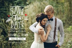 Love - Free Printable Save the Date Announcement Template | Greetings Island