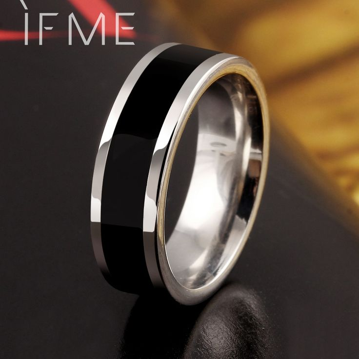 Trendy Fashion Black Stainless Steel Rings Spinner Chain Rings for Women and Men Anillos Mens Jewelry Anel Ring