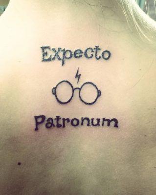 Harry potter expecto patronum tattoo 8