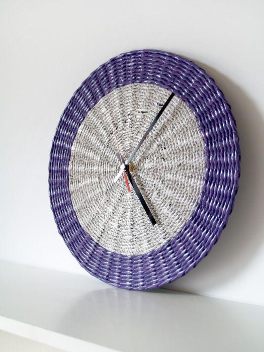 Paper wall clock * blureco https://www.facebook.com/BluReco