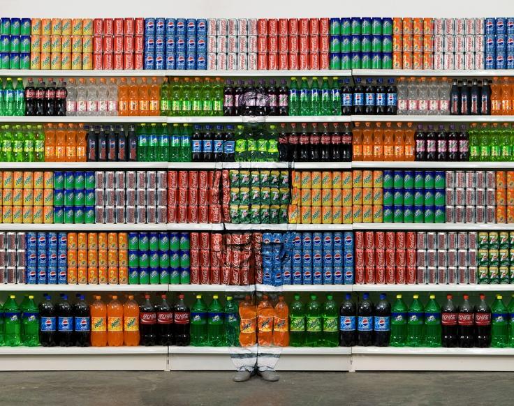 "Liu Bolin's Disappearing Act : ""Supermarket No.2"" Photographs by Liu Bolin, courtesy of Eli Klein Fine Art"