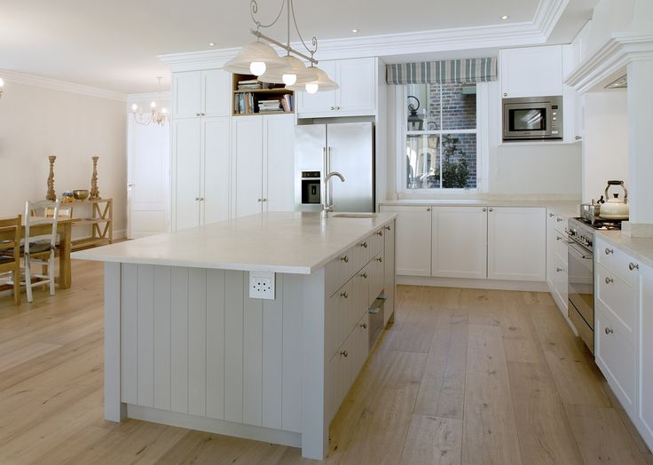 Duco and oak kitchen by ADK Cabinetworks. Photo by Pete Maltbie.