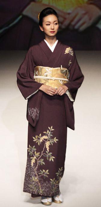 # 15: Yukiko Hanai designed this silk kimono and obi. 2012, Japan