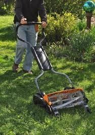 Push Reel Lawn Mower - no more gas - no more tune-ups. Been there done that but that is way nicer than the one I pushed.