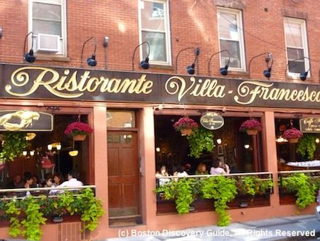 Great Restaurant at the North End in Boston. Little Italy's famous for its italian restaurants.