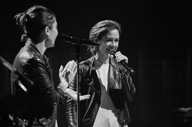 Tegan and Sara| Me. Probably laughing at my own joke. @allister.ann
