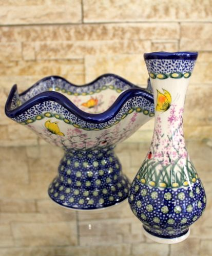 Polish pottery - love this beautiful pattern with butterflies by Ceramika Kalich :)
