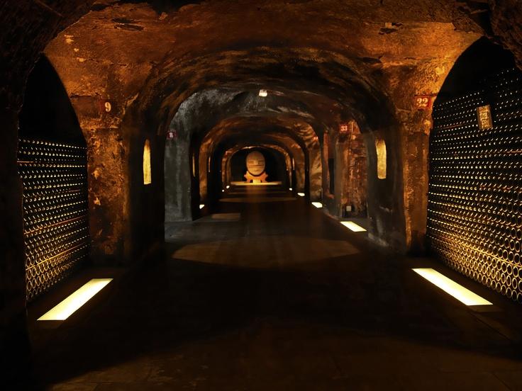 MOET & CHANDON legendary cellars, Epernay, France. © LVMH / Christophe Beauregard