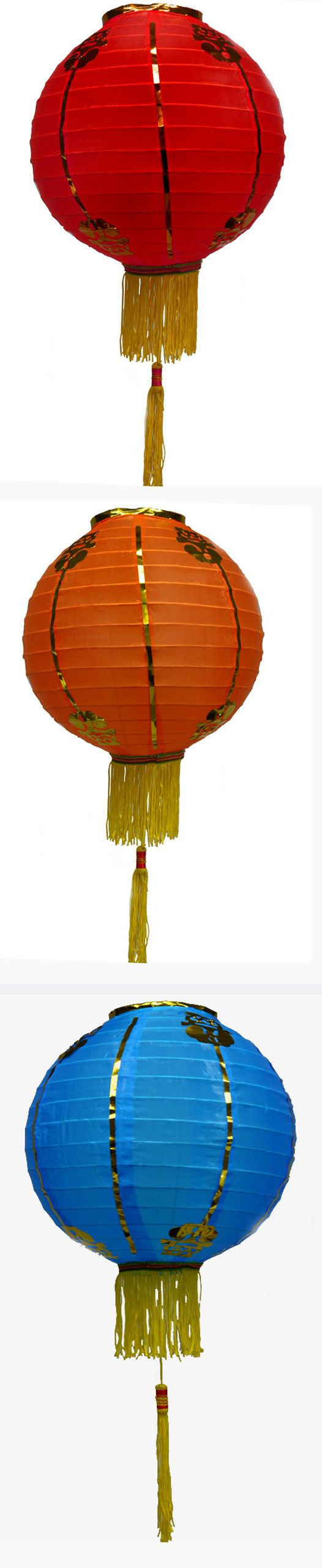 traditional Chinese lanterns with tassels from the paper lantern store