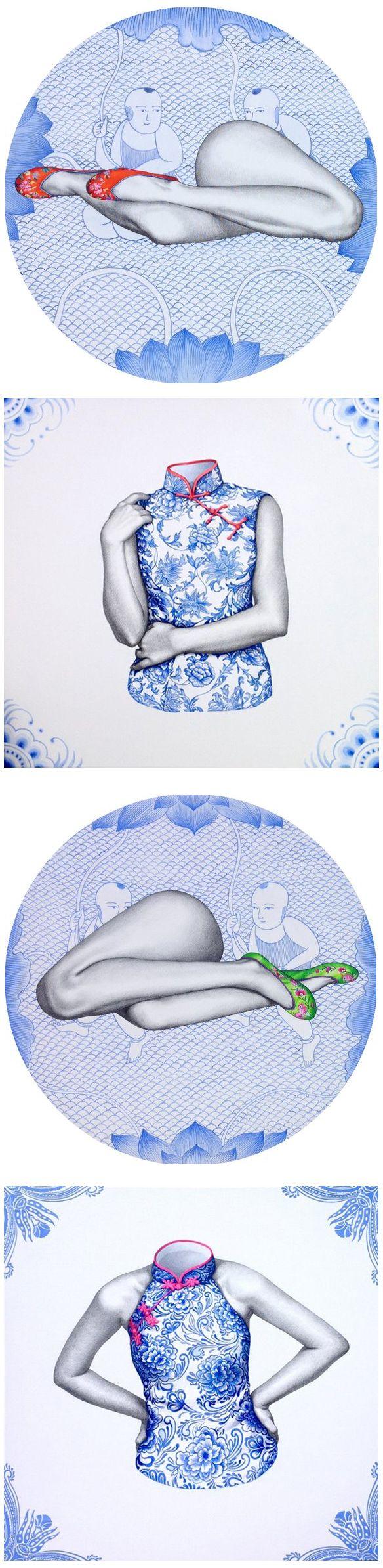 xu ying (graphite and acrylic)
