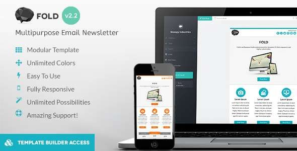 180 Absolute Best Responsive Email Templates - FOLD - Responsive Email Template