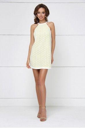 Анна Павлова. Платье мини гипюровое