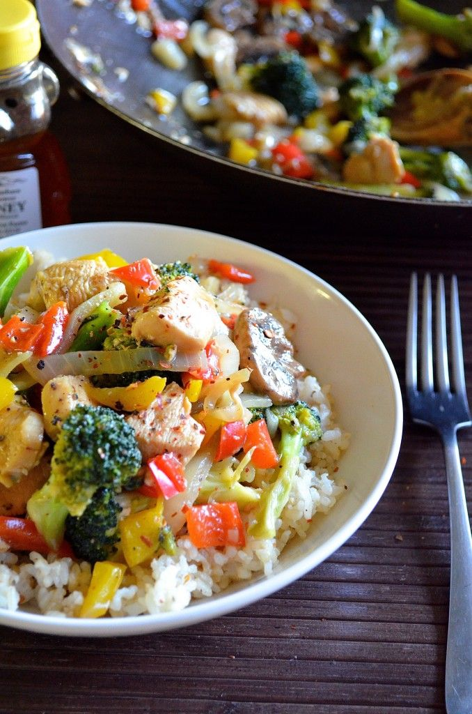 Sticky garlic honey baked chicken recipe orange chicken stir fry healthy honey orange chicken stir fry delicious fast and low calorie forumfinder Gallery