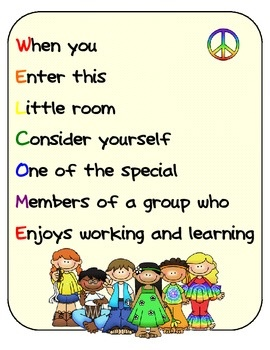 WELCOME Poster Pack comes with 4 FREE posters that you can either hang on your classroom door bulletin board or anywhere around your room.  sc 1 st  Pinterest & 12 best Welcome poster and classroom decorations images on Pinterest ...