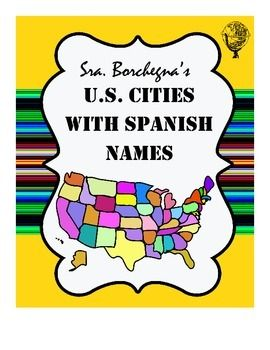 So many American cities have Spanish names!I designed this product so that students of Spanish can learn the translations of many of the cities and towns in the US. This does not include any cities in Texas, New Mexico, or California, which I have emphasized in other products.