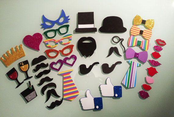 Accesorios - Pack 40 accesorios para photocall - hecho a mano por manualidadescreativasvintage en DaWanda
