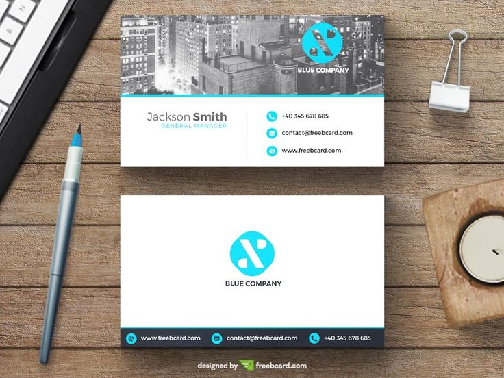 Minimal business card with new york skyline - Freebcard