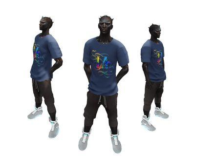 T-shirt LA color Blue gift