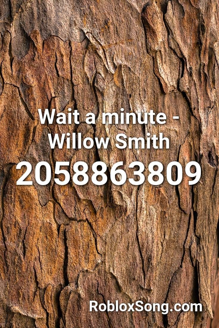 Wait A Minute Willow Smith Roblox Id Roblox Music Codes In