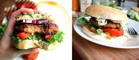 Prøv kjøttfrie burgere neste gang du skal grille! Til venstre: Big Mock. Til høyre: Vegansk grillburger. Begge foto: Jane Johansen/Veganmisjonen