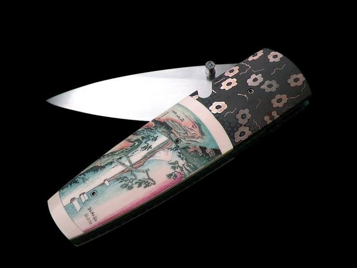 ножи с гравировкой - нож с гравировкой японская классика Келли Карлсон - Japanise Classic Kelly Carlson