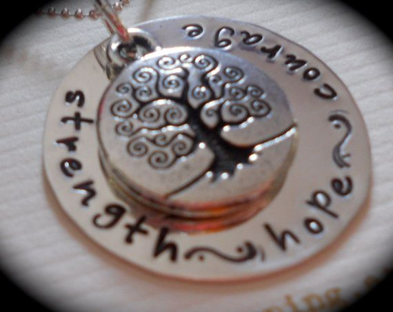 Strength Hope Courage  Tree of life   by Crazy4Handstamping, $30.00