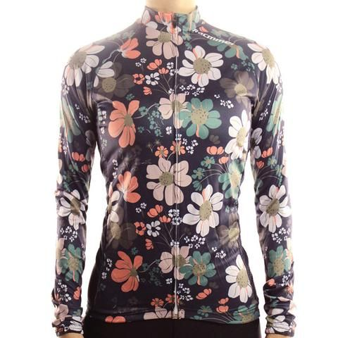 Flowers - Women's Long Sleeve Cycling Jersey