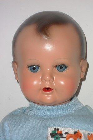Antique doll baby celluloid 50s marked Schildkrot Germany