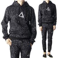 Stylehomme 89872 도트패턴 스카치 포인트 후드 티셔츠 (Black)