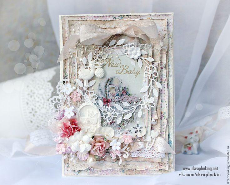Купить Детская открытка для мамы - бледно-розовый, открытка, детская открытка, открытка для мамы