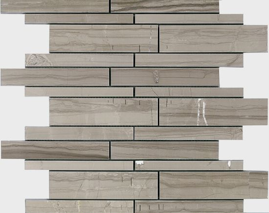 Colour: Athena Gris Finish: Polished Taupe/grey with wood-look veining. SLABS ALSO STOCKED in a vein-cut, polished finish.